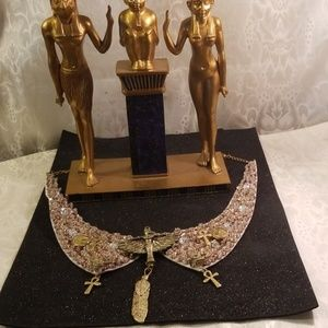 Egyptian Goddess maat Collar style necklace